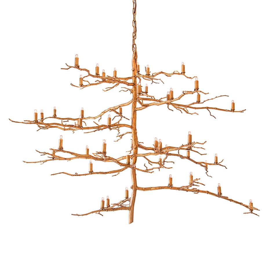 2125 v vertical branch chandelier - Paul Ferrante Chandelier