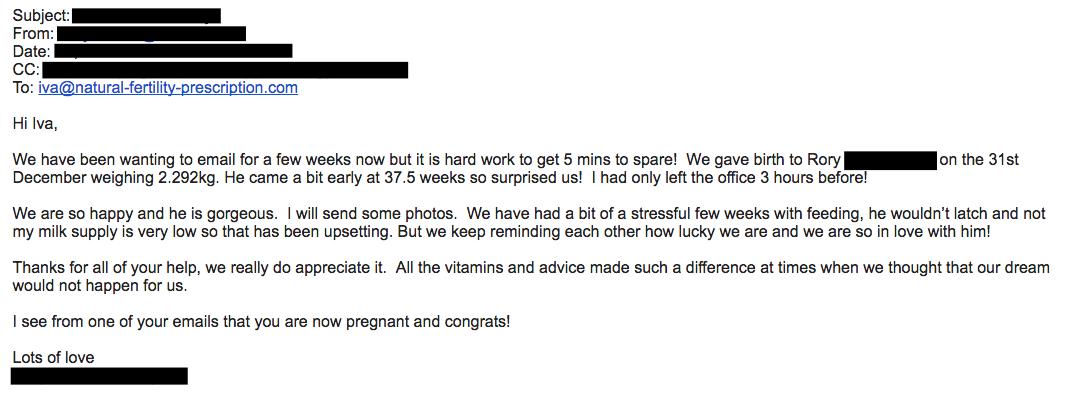 Client Feedback l Natural Fertility Prescription
