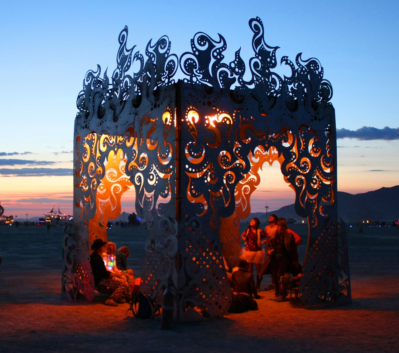 Burning Man 2009 Poetic Kinetics Holding Flame