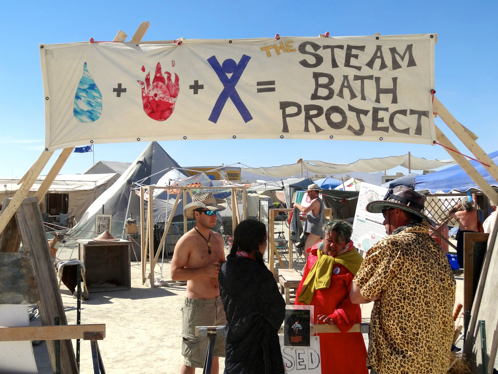 Burning Man 2012 Chip Conley Steam Bath Project