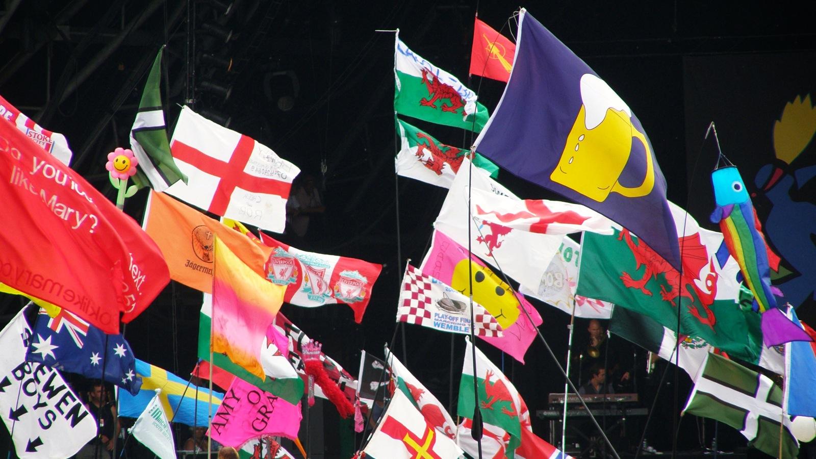Glastonbury Paula Bailey Too Many Flags