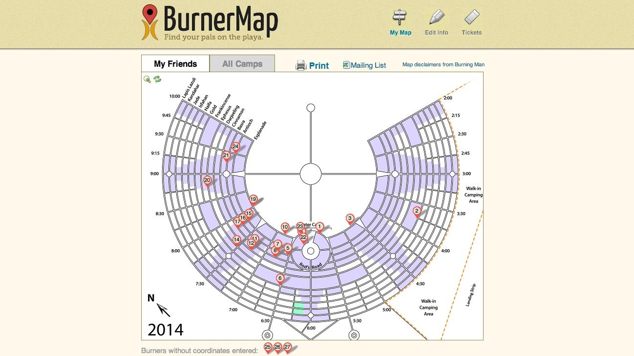 Burner Map