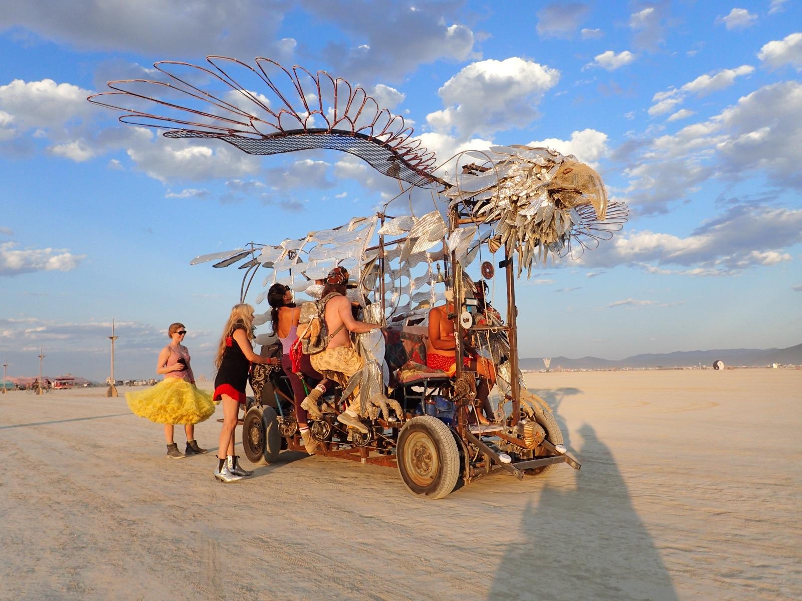 Shamancycle Burning Man Art Cars 2014 Jeff Carver