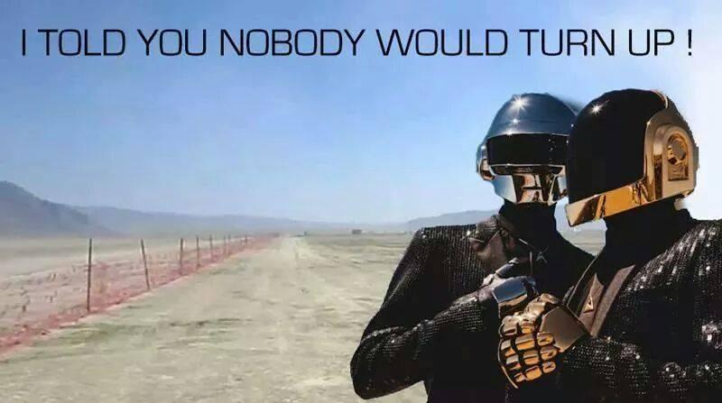 Daft Punk Trash Fence