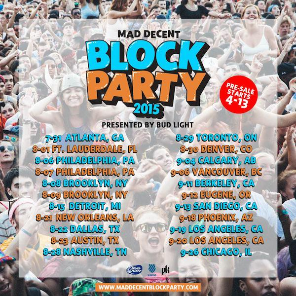 Mad Decent Block Party 2015 Tour