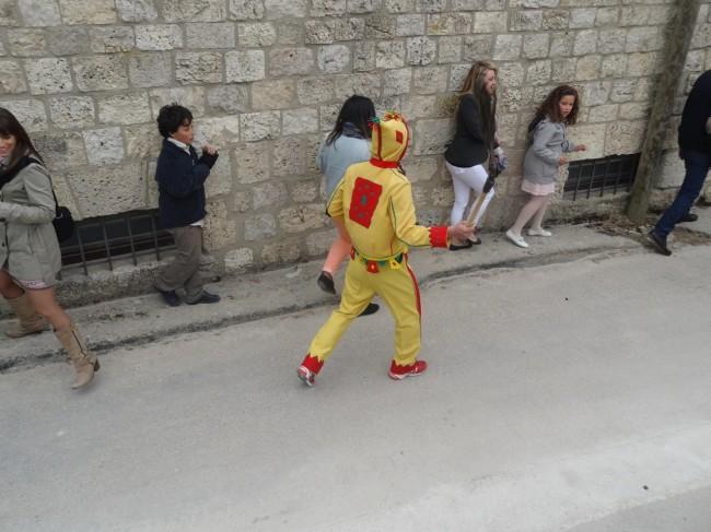 Even little girls don't escape the wrath of El Colacho