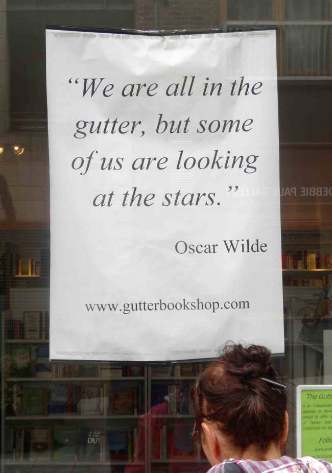 Have you ever been in a bookstore named The Gutter?