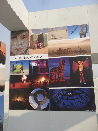 """Life Cube"" features the photography of Burning Man"