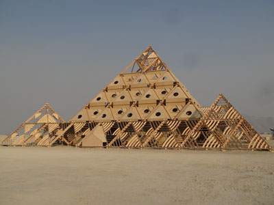The Temple was a study in pyramids