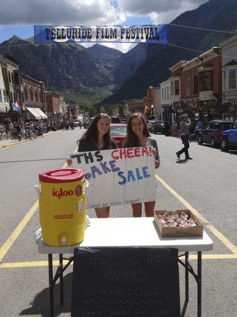 Gotta love a film festival with a local bake sale by high school cheerleaders