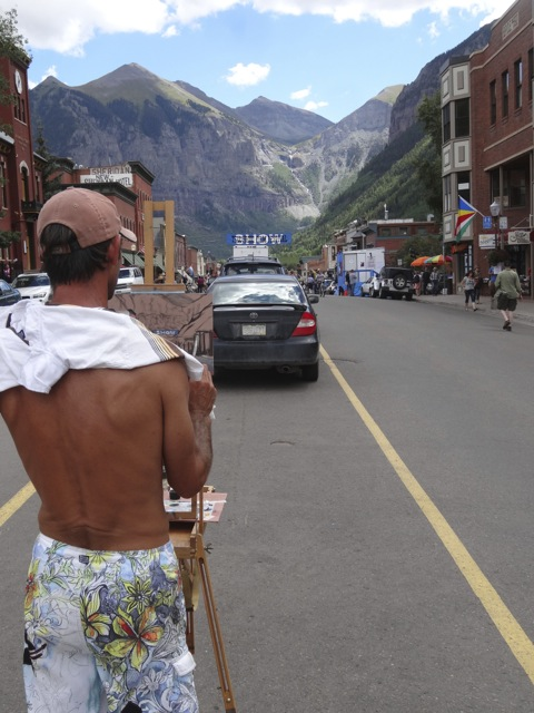 The beauty that surrounds Telluride is so sensuous you may pull out a paintbrush or a fork to capture or digest it.
