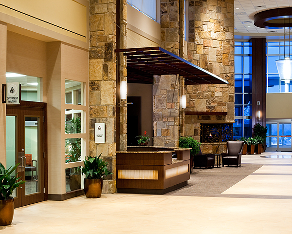 LeConte Medical Center is an example of hotel-inspired  design.