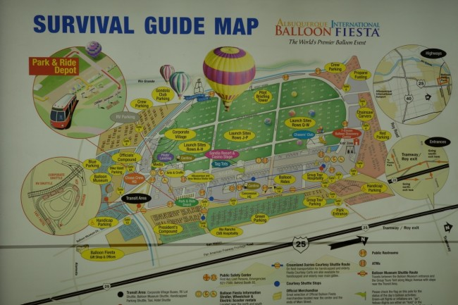 The Balloon Fiesta's Survival Guide map