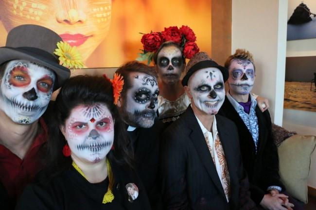 My Fest300 team a la Dia de los Muertos