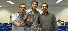 César Vieira, Conrado Ferrato e Rafael Crespo