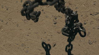 Chains falling to the ground thumbnail