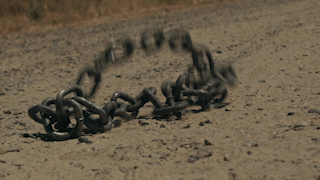 Chains are thrown to the ground thumbnail