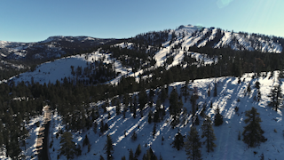 A large snow capped mountain with trees thumbnail