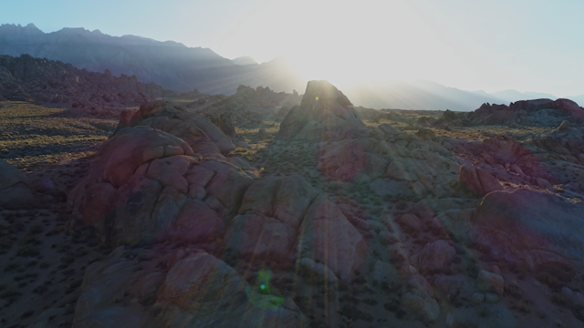 A beautiful rocky terrain at sunset thumbnail