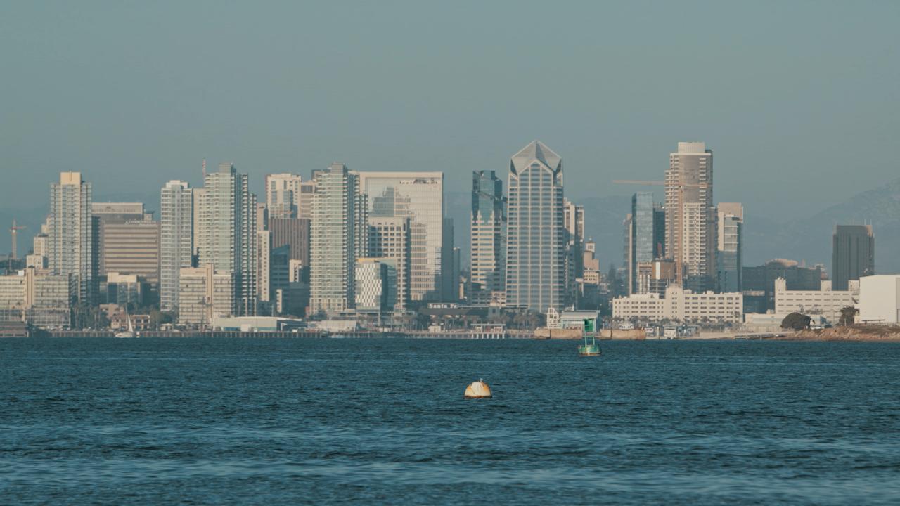 A city skyline across the bay thumbnail