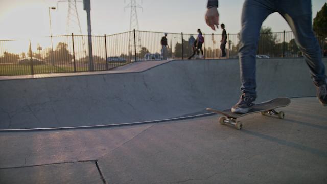 A man skates around and his skateboard thumbnail