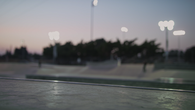 A skate park in the evening thumbnail