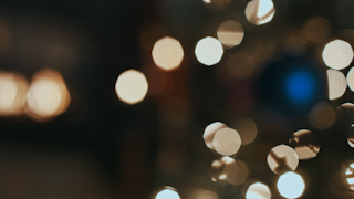 Flickering blurry christmas lights thumbnail