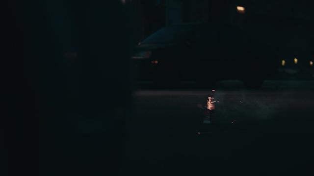 A firework goes off on a street thumbnail
