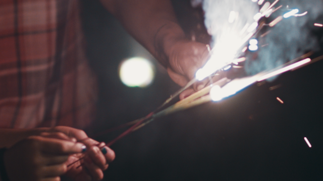 Sparklers are being lit thumbnail