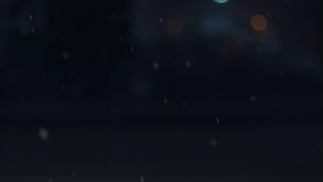 Snow is falling against a dark background thumbnail