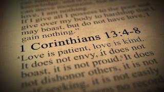 1 corinthians 13: 4-8 bible verse thumbnail