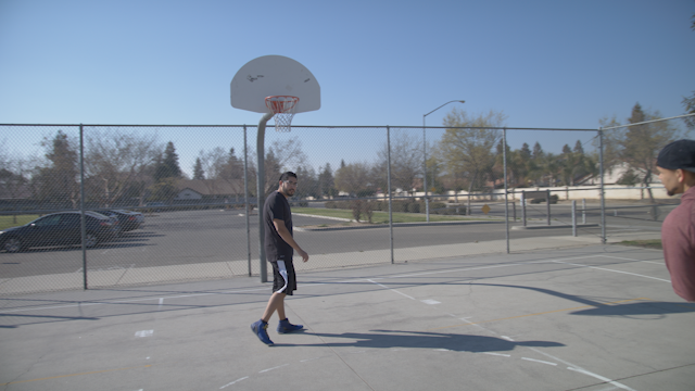Man misses shot playing basketball thumbnail