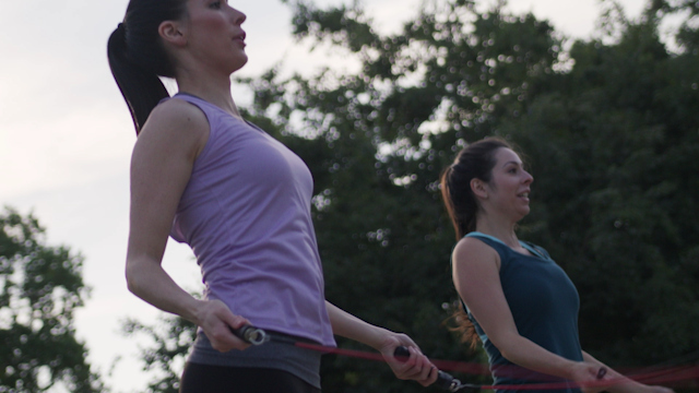 Two women jump rope in unison thumbnail