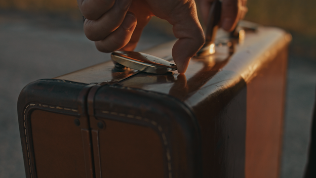A suitcase clasp is opened thumbnail