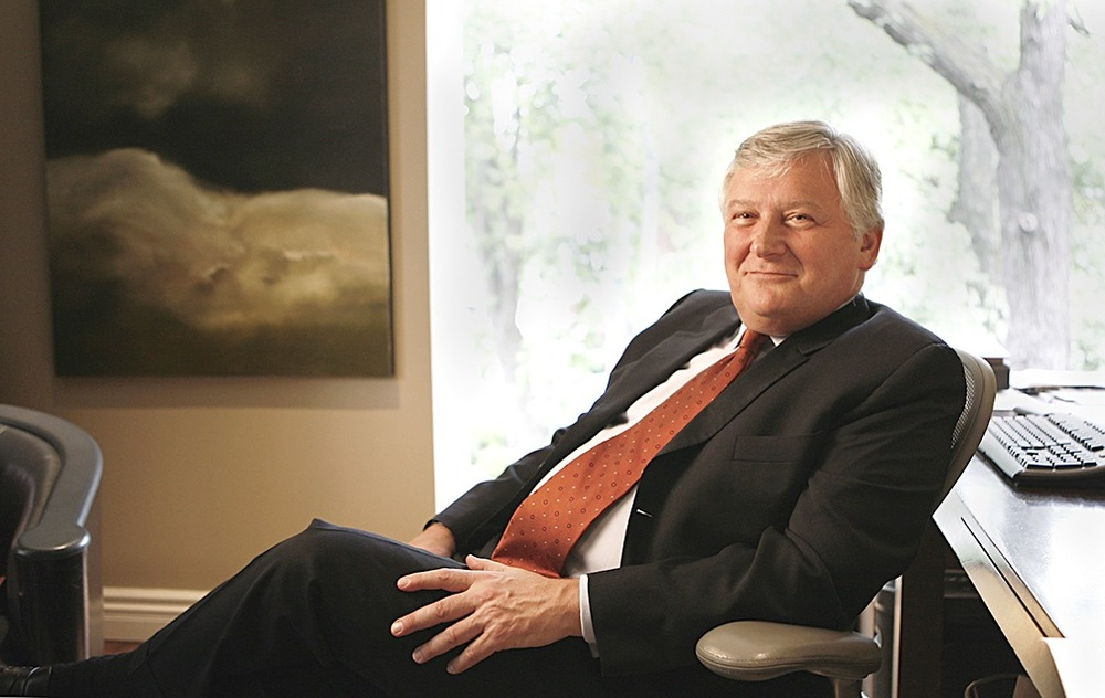 Corporate Portrait of Brian Greenspan in an office setting, Toronto