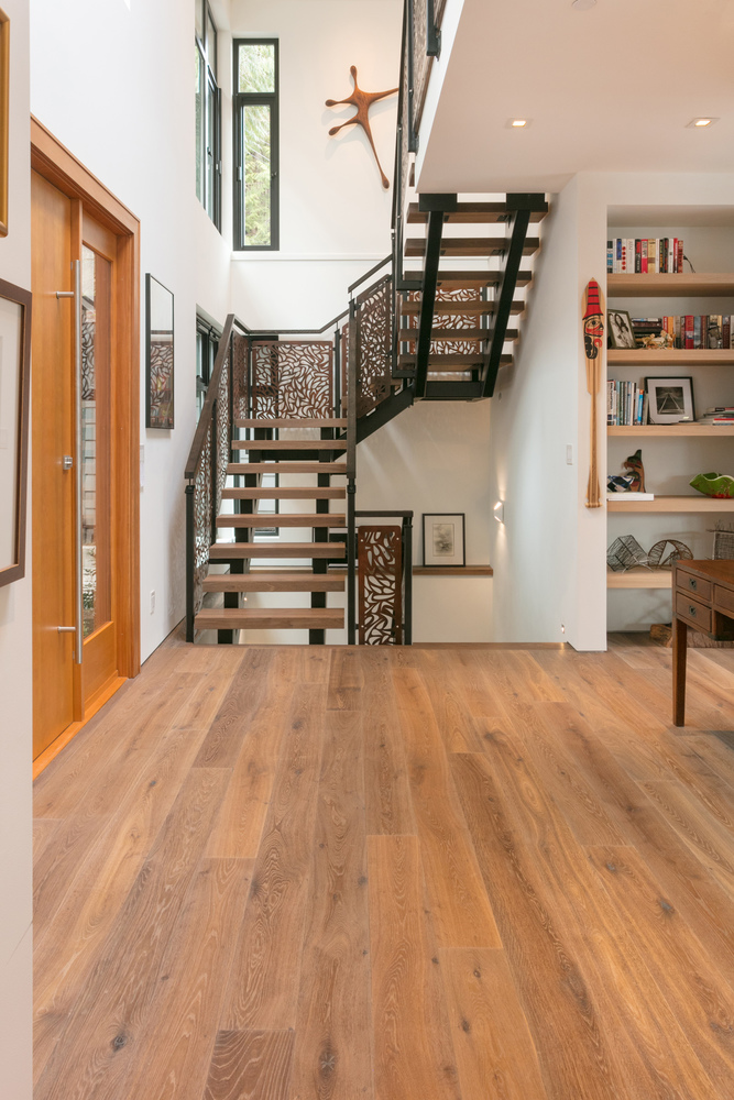 BC Hardwood installed the floors for this Deep Cove custom home photographed interior by Justin Eckersall