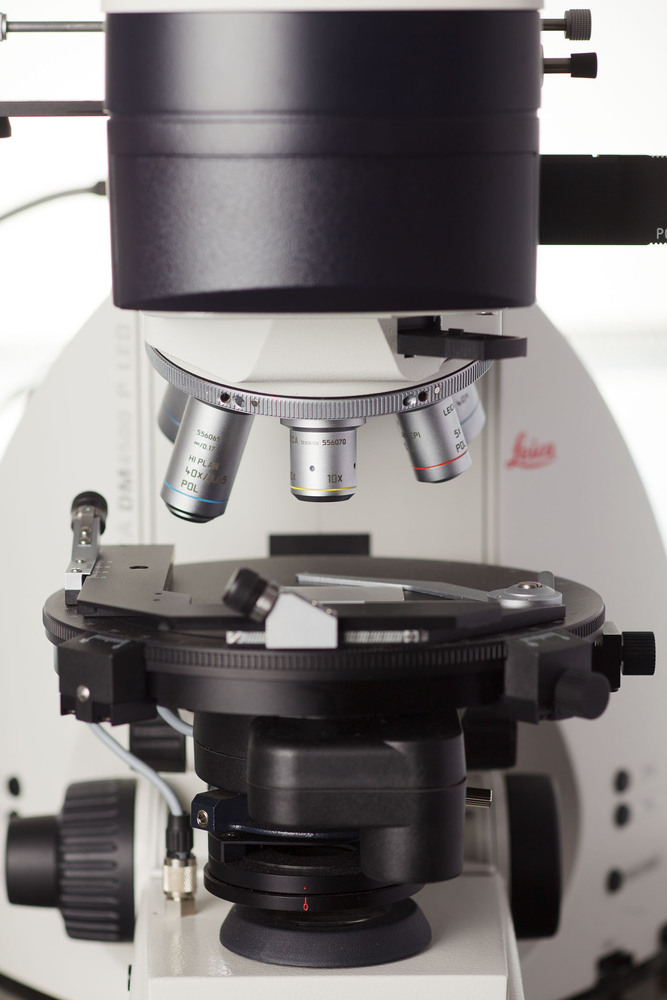 Microscope at Inspectorate Labs in Science and research field