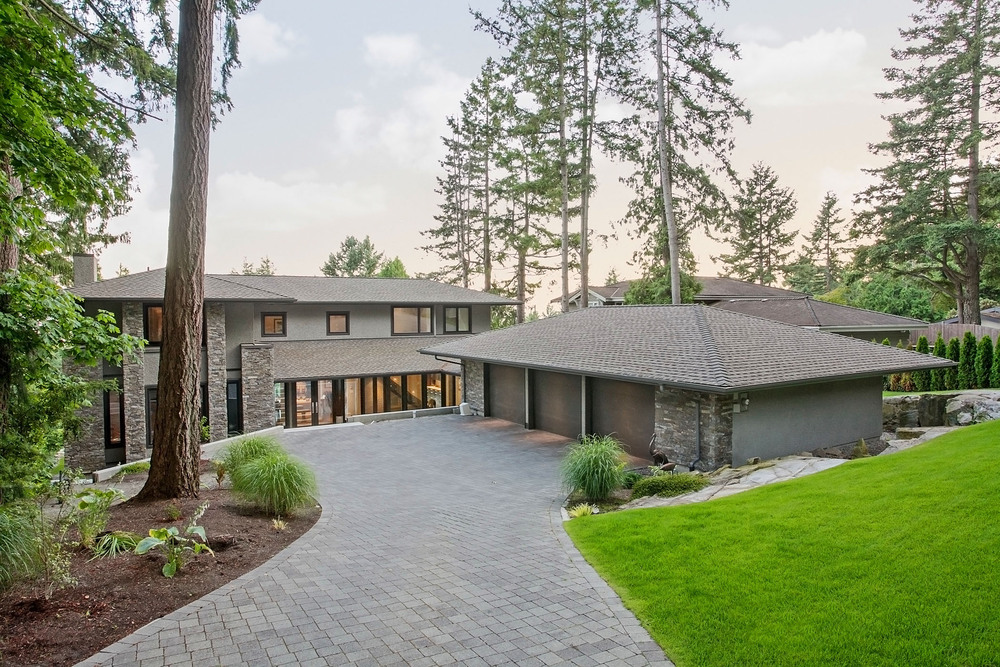 Waterfront custom home West Vancouver, Custom Home Building Exterior,