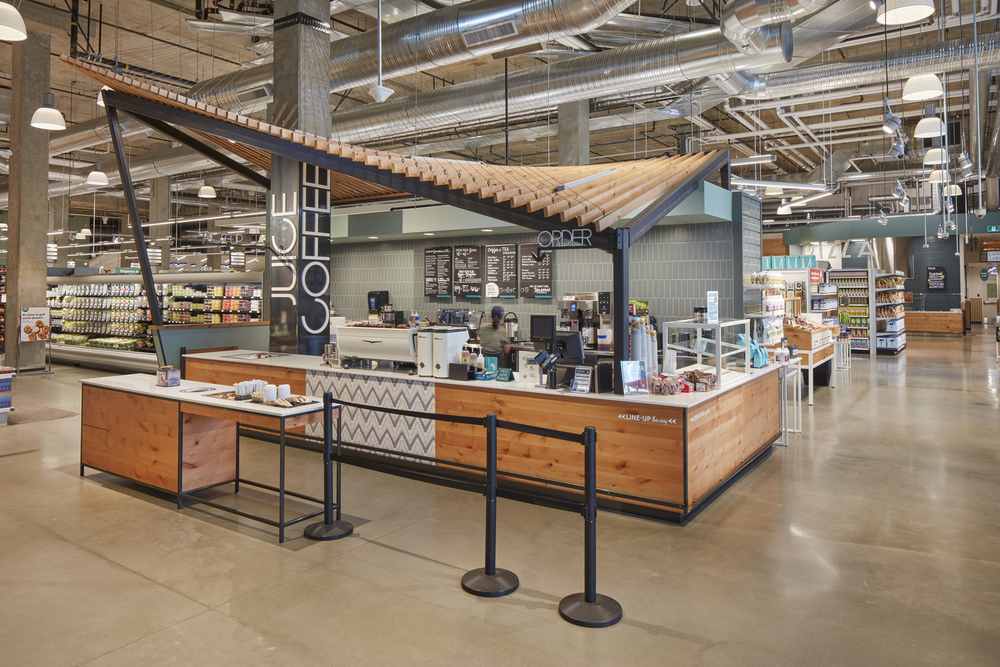 This commercial interior photography was done in the newly renovated Whole Foods in North Vancouver and the photo shoot was coordinated to happen before the store opened
