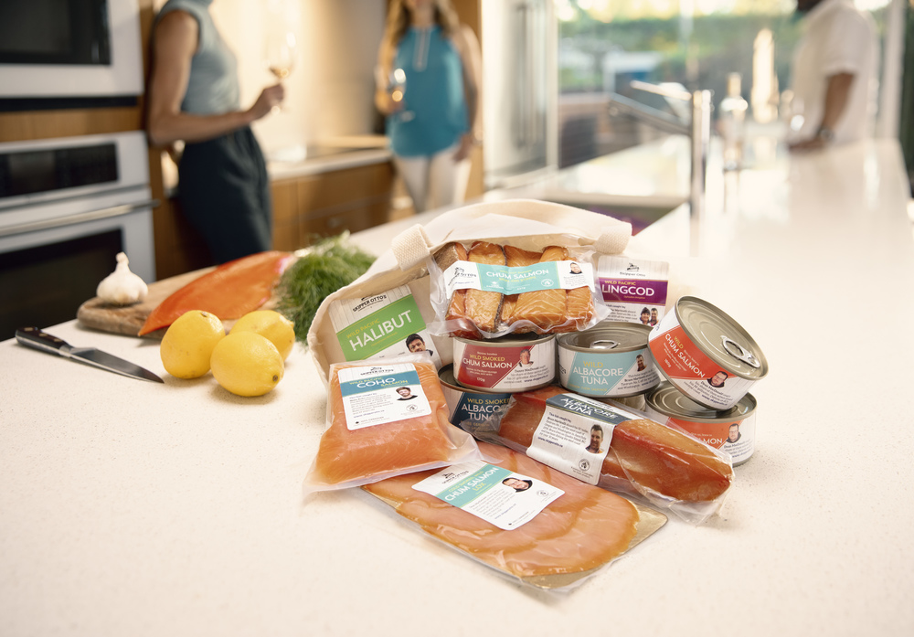 Kitchen product photography for Skipper Otto Community supported fishery