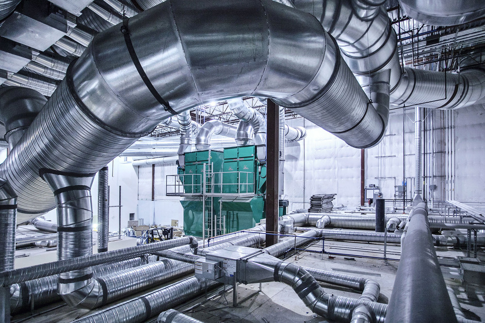 HVAC for science laboratory in Vancouver, Industrial Photographer