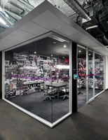 Modular walls, floating ceilings, AV