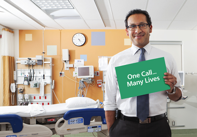 Portrait of Dr. Sonny Dhanani, ICU unit, Environmental Portrait