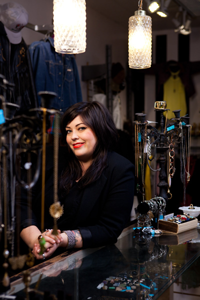 portrait of independent store owner in Vancouver