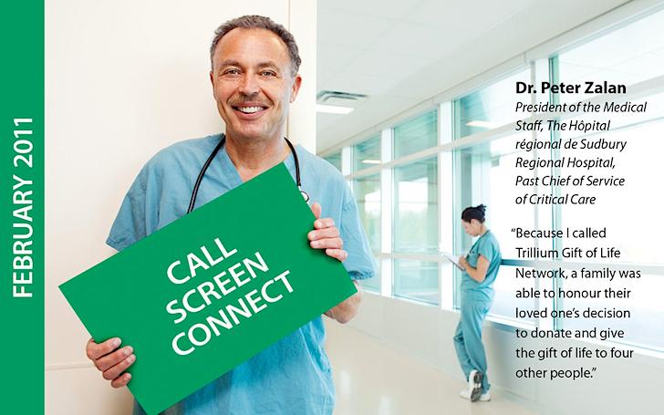 Location Portrait of Dr. Zalan, Sudbury Hospital, Trillium Gift of Life