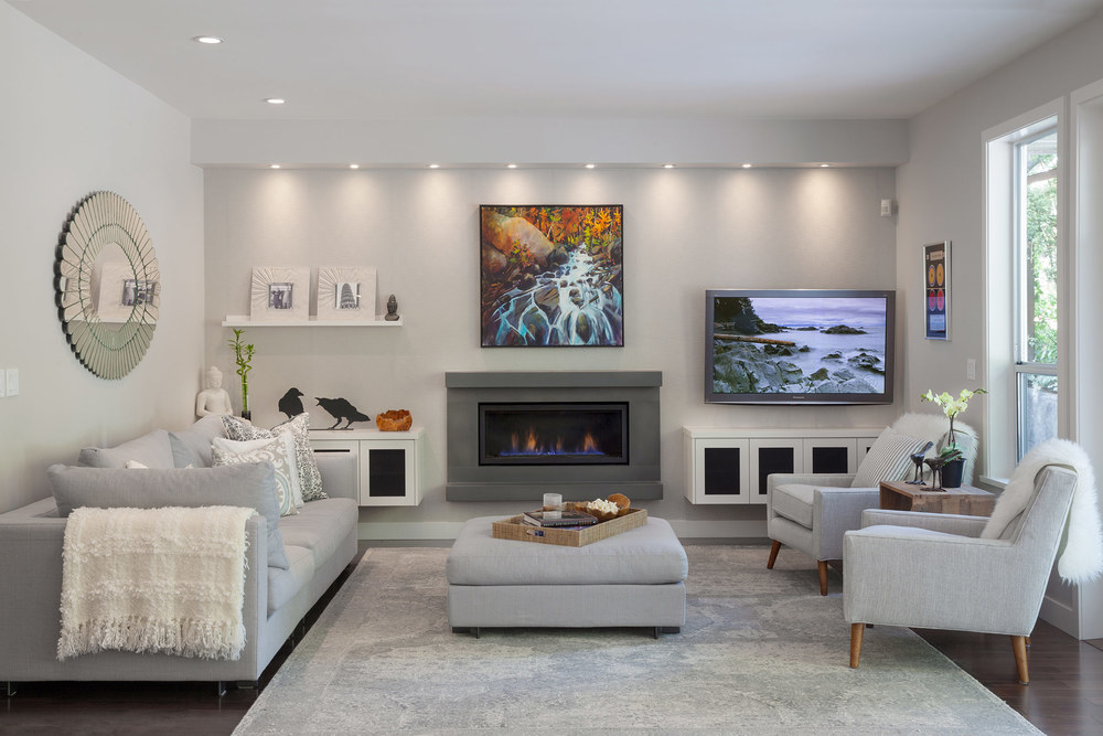 architectural living room done by a Vancouver interior designer Home Reworks