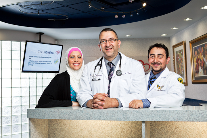 Group photograph of Dr.Kadri,  Kidney Specialist, Private Clinic, Windsor, Ontario, Canada