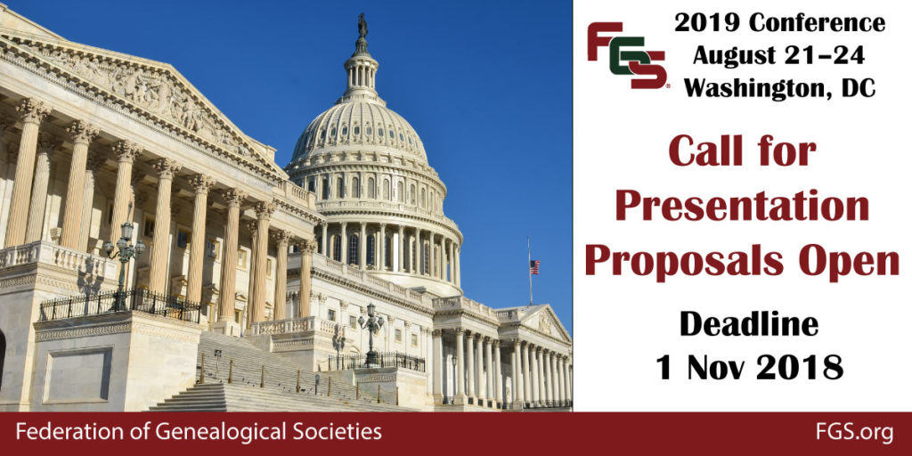 FGS 2019 Call for Presentation Proposals Open - Federation
