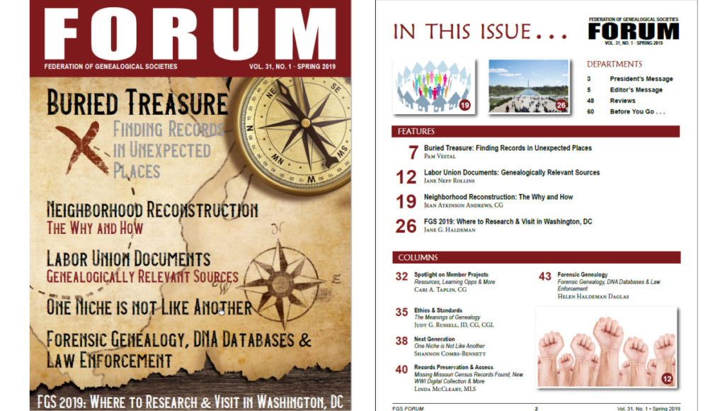 FORUM Cover & TOC
