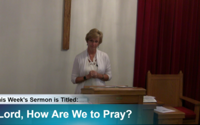 """Sermon """"Lord, How Are We to Pray?"""""""